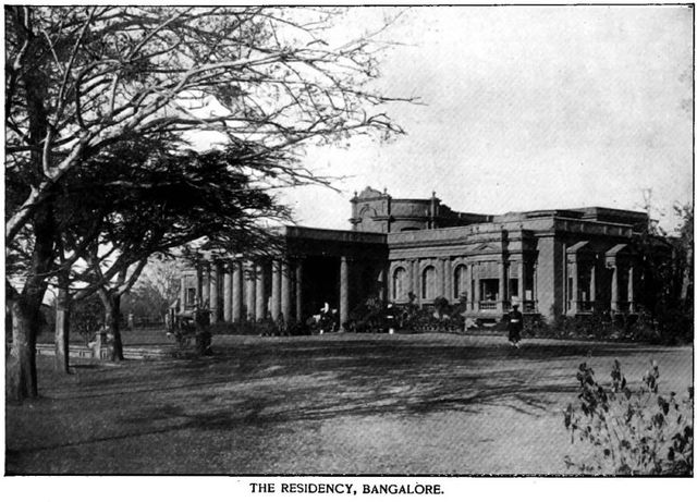 Bangalore Residency (in around 1895) is now Governer's office (Source: Wiki Commons)
