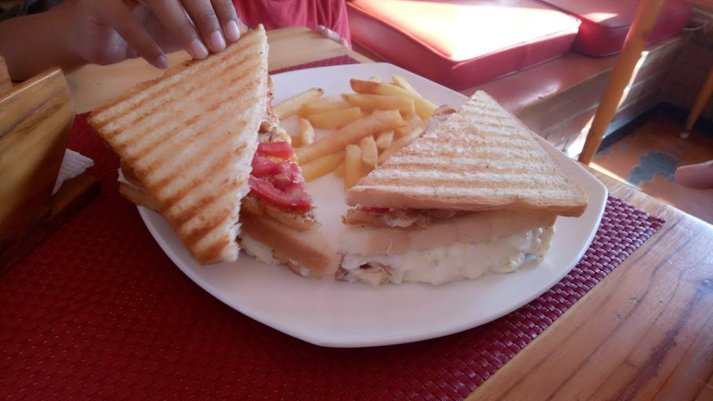 Sancwiches served at Jus' Trufs in Bangalore/Bengaluru, India