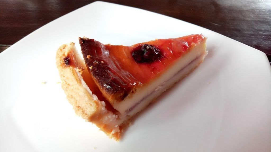 Cherry Cheesecake at Onesta