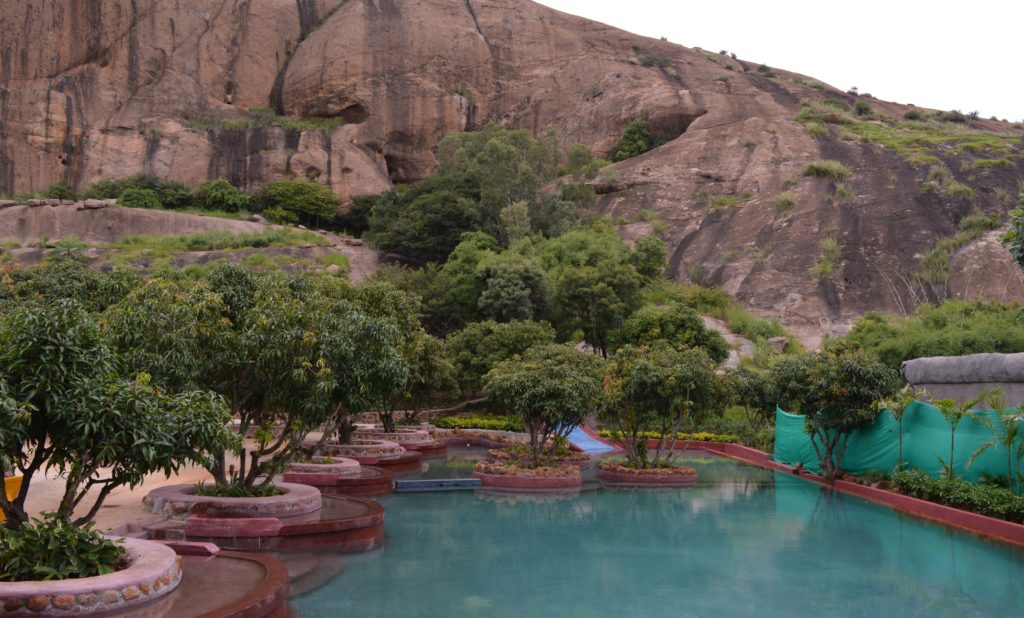 Swimming Pool at Shilhaandara in Bangalore, India