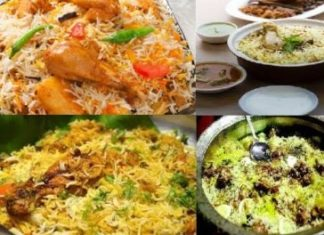 BIRYANI RESTAURANTS IN BENGALURU